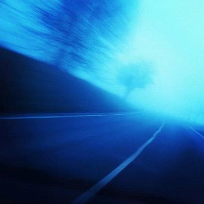 Time Photograph - Blue Monday by Matthias Hauser