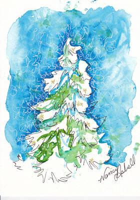 Blue Mood Christmas Tree Original