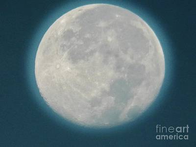 Photograph - Blue Moon 5 by Judy Via-Wolff