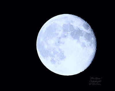 Photograph - Blue Moon August 2012 by Cindy Wright