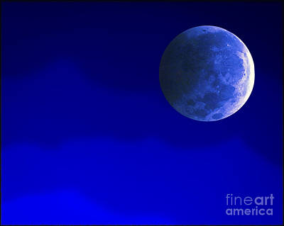 Photograph - Blue Moon by Walt Foegelle