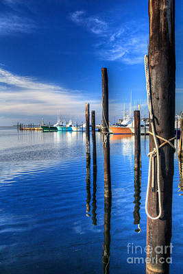 Oregon Inlet Photograph - Blue Morning At Oregon Inlet I by Dan Carmichael