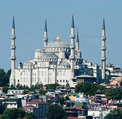 Bosphorous Photograph - Blue Mosque by Andrew  Michael