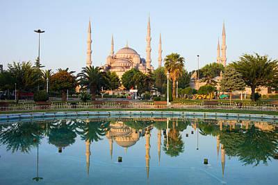 Blue Mosque At Dawn Art Print
