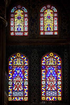 Glasswork Photograph - Blue Mosque Stained Glass Windows by Artur Bogacki