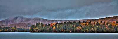 Autumn Colors Photograph - Blue Mountain Lake by David Patterson