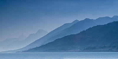 Teton Mountains Photograph - Blue Mountain Ridges by Andrew Soundarajan
