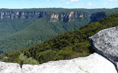 Blue Mountains Art Print by Carla Parris