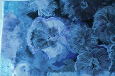 Blue Muted Memories Art Print by Anne-Elizabeth Whiteway