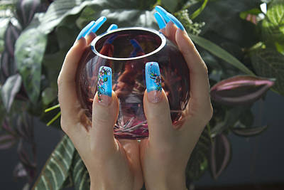 Photograph - Blue Nails And Light by Donna L Munro