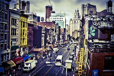 Blue New York City Art Print by Brian Lambert