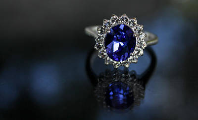 Kate Middleton Photograph - Blue On Bling by Theresa Johnson