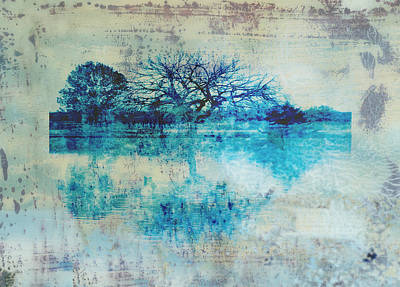 Photograph - Blue On Blue by Ann Powell