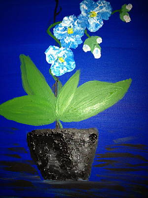 Blue Orchid 2 Art Print by Pretchill Smith