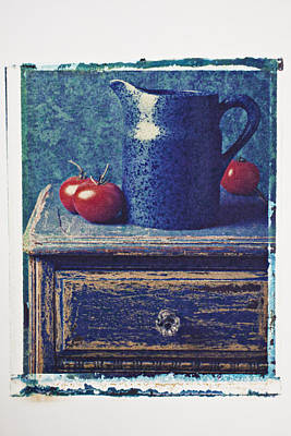 Photograph - Blue Pitcher by Garry Gay