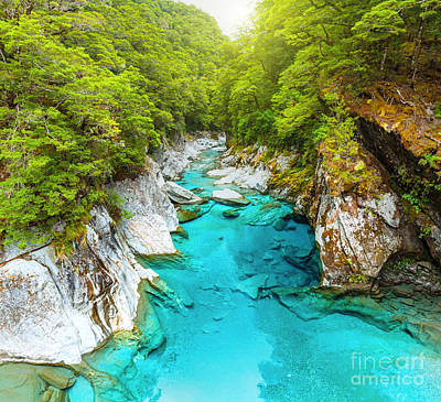 Blue Pools Art Print by MotHaiBaPhoto Prints