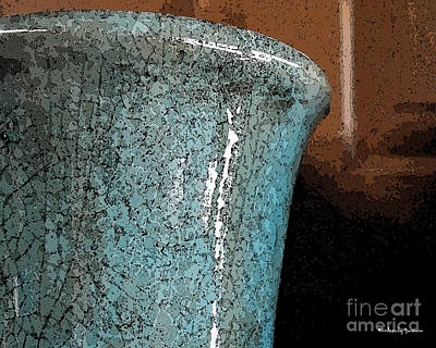 Mixed Media - Blue Pottery by Kimberly  Brown