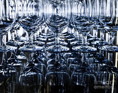 Winetasting Photograph - Blue Reflection by Chavalit Kamolthamanon