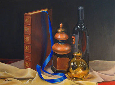 Painting - Blue Ribbon by Jean Rascher