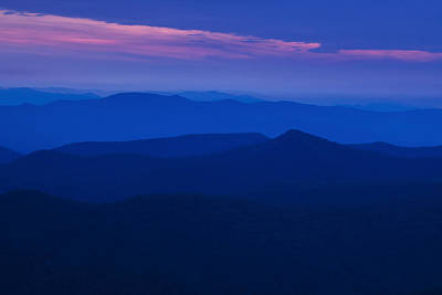 Twilight Views Photograph - Blue Ridge At Dusk by Andrew Soundarajan