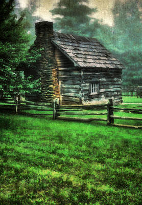 Pucketts Photograph - Blue Ridge Cabin by Darren Fisher