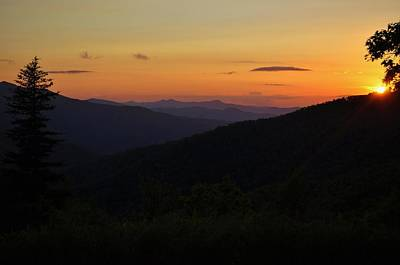 Blue Ridge Mountain Sunset Print by Jeff Moose