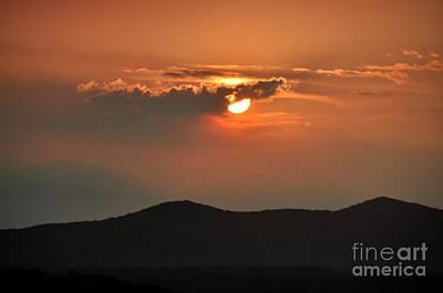 Photograph - Blue Ridge Mountain Sunset by John Black