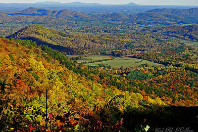 Photograph - Blue Ridge Mountains In The Fall by Sheila Kay McIntyre
