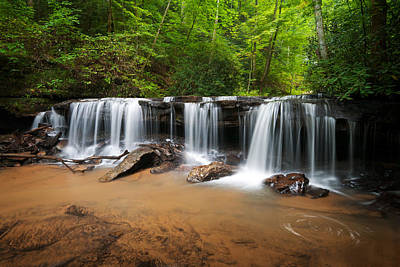 Soothing Photograph - Blue Ridge Waterfalls - Perpetuelles Appalachian Waterfall by Dave Allen