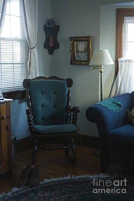 Blue Rocking Chair Art Print by Roberto Westbrook
