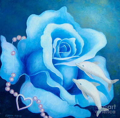 Painting - Blue Rose by Edoen Kang