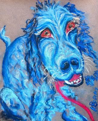 Blue Setter Art Print by Kathryn Barry