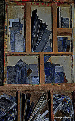 Photograph - Blue Shards by Diane montana Jansson