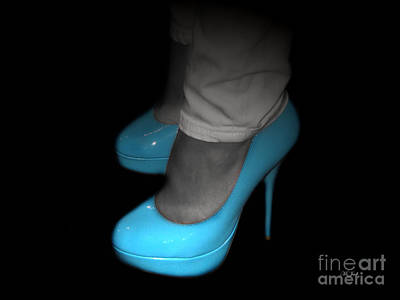 Photograph - Blue Shoes by Ms Judi