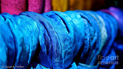Photograph - Blue Silk by Susan Herber