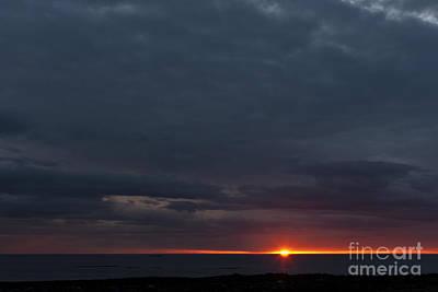 Blue Skies At Sunset Art Print by Heiko Koehrer-Wagner