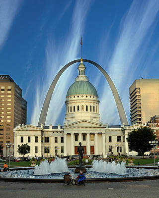 Blue Skies Over St. Louis Art Print by Marty Koch