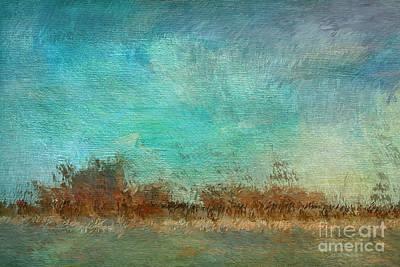 Blue Sky And Beach Art Print by Deborah Benoit