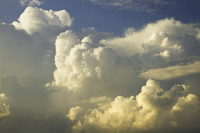 Photograph - Blue Sky And Building Storm Clouds Fine Art Print by Keith Webber Jr