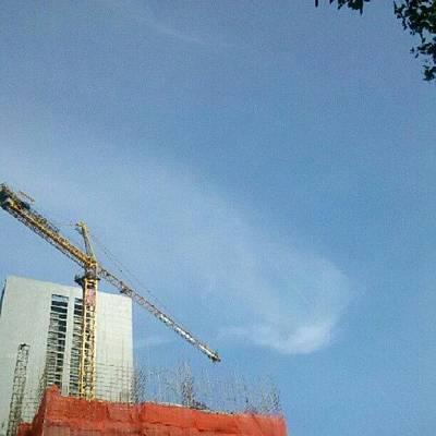 Machine Photograph - Blue Sky Appears Again! Really A Good by Dennis Isuzu