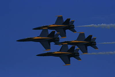 Photograph - Blue Sky Blue Angels by Christopher Kirby