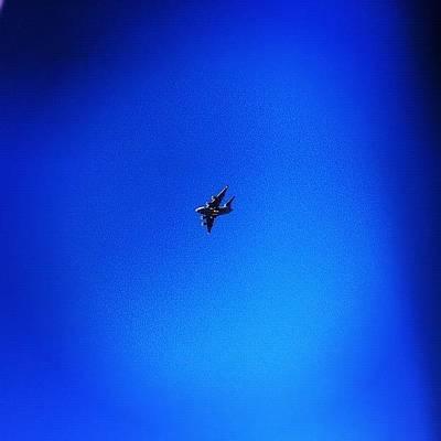 Wall Art - Photograph - #blue #sky #galaxy #plane #raaf by Zanna Gudgly