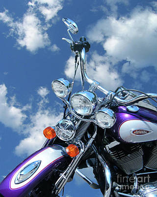 Digital Art - Blue Sky Harley by Lizi Beard-Ward