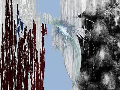 Art Print featuring the digital art Blue Sky by Maciek Froncisz