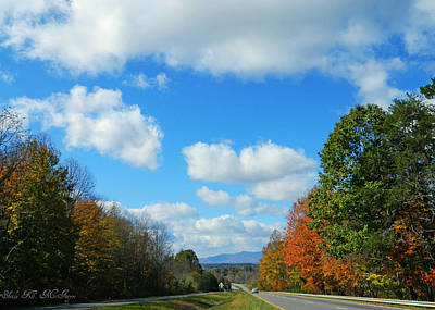 Photograph - Blue Sky Nc Highway by Sheila Kay McIntyre