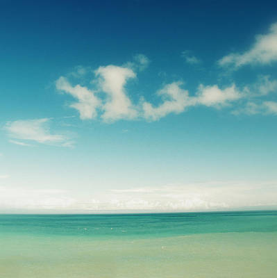 Blue Sky Over Ocean Art Print by Jodie Griggs