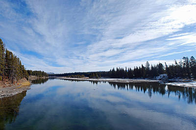 Yellowstone Wall Art - Photograph - Blue Sky Over Yellowstone River by Twenty Two North Photography