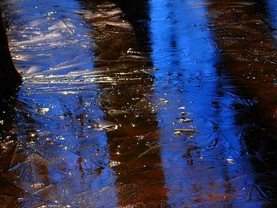 Photograph - Blue Sky Reflected In Ice by Beth Akerman