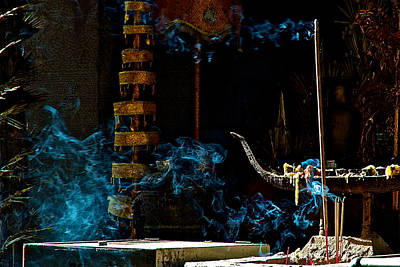 Architcture Photograph - Blue Smoke by Arj Munoz