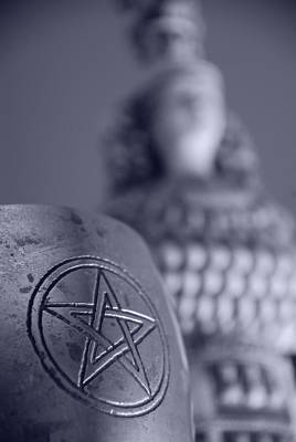 Pentagram Photograph - Blue Star by JP Rhea